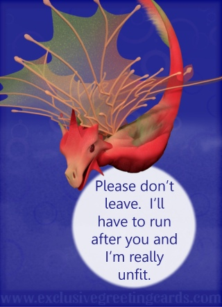 Relationship Card with Dragon - don't leave
