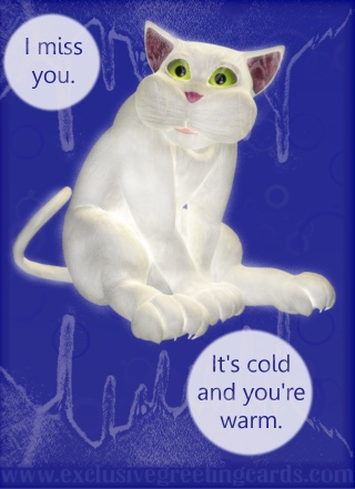 Cat Greeting Card - i miss you
