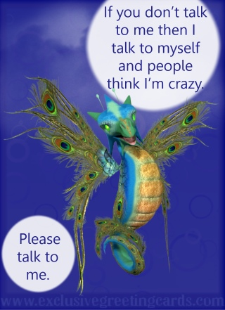 Relationship Card with Dragon - talk to me