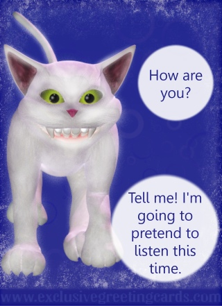 Cat Greeting Card - how are you
