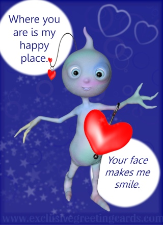 Love Greeting Card - happy place