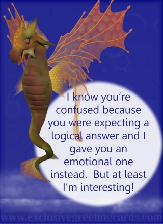 Relationship Card with Dragon - emotions
