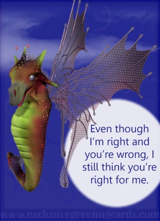 Relationship Card with Dragon right / wrong