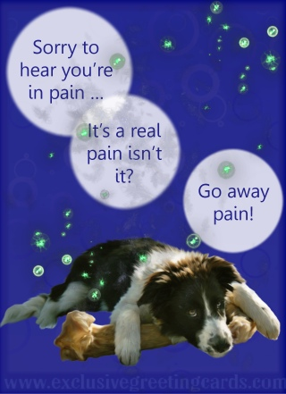 go away pain greeting card