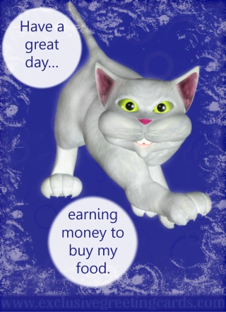 Cat Greeting Card - have a great day