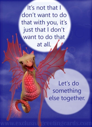 Relationship Card with Dragon - not that