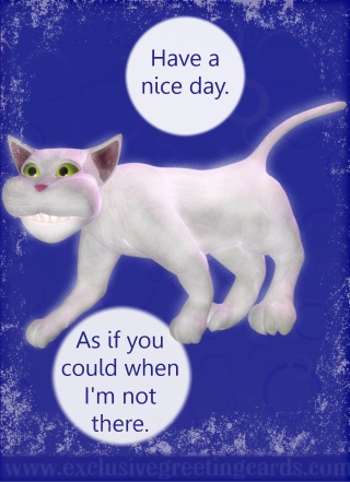 Cat Greeting Card - have a nice day