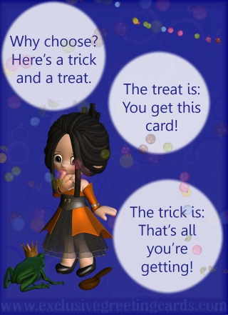 Bewitching Greeting Card - trick or treat